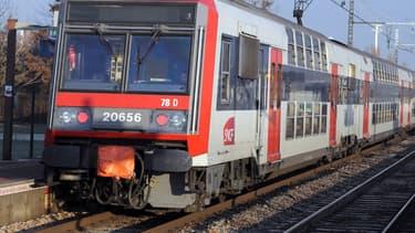 Une rame de RER circulant en Ile-de-France
