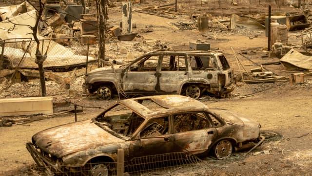 Après le passage d'un incendie géant en Californie, le 7 août 2018.