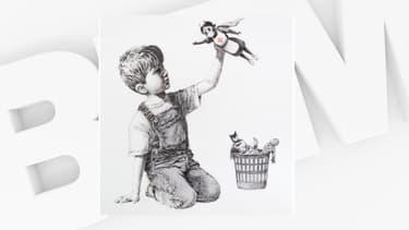 La nouvelle oeuvre de Banksy est visible à l'hôpital de Southampton