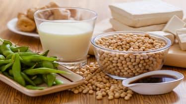 On trouve les isoflavones dans les protéines de soja, par exemple les préparations pour nourrissons et de suite à base de protéines de soja, le tofu et les desserts à base de soja.