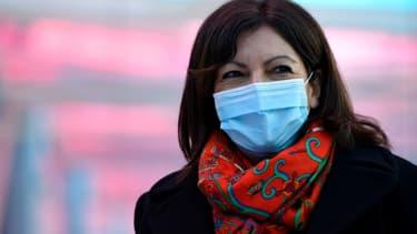 La maire de Paris Anne Hidalgo lors d'une visite à Nancy, le 19 février 2021