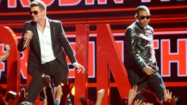 Robin Thick et Pharrell Williams aux Bet Awards à Los Angeles
