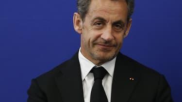 Nicolas Sarkozy en mars 2014, lors d'une de ses rares apparitions publiques récentes.