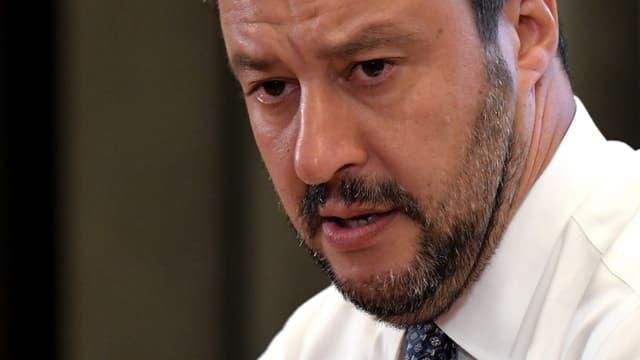 Matteo Salvini lors d'une conférence de presse le 25 juin 2018 à Rome. - TIZIANA FABI / AFP