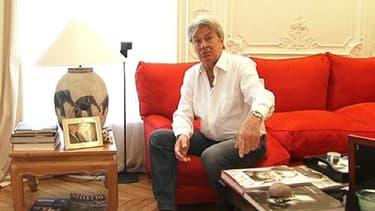 Alain Delon a reçu BFMTV, vendredi, à son domicile.