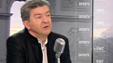 Jean-Luc Mélenchon sur le plateau de BFMTV-RMC, le 20 janvier 2015.