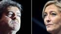 Un sondage indique Marine Le Pen recueille plus d'opinions favorables que Jean-Luc Mélenchon.