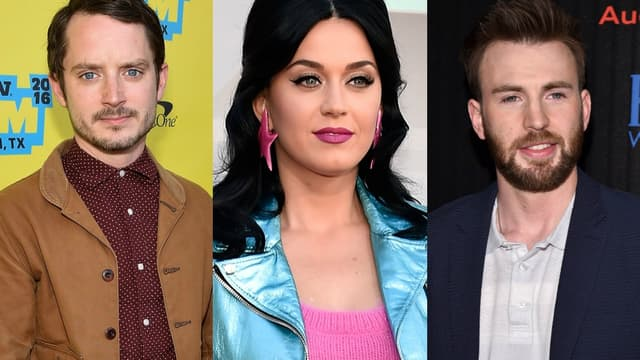 Elijah Wood, Katy Perry et Chris Evans
