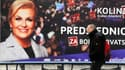 Kolinda Grabar Kitarovic, ici sur une campagne d'affiche à Zagreb, avait remporté l'élection présidentielle en janvier dernier.