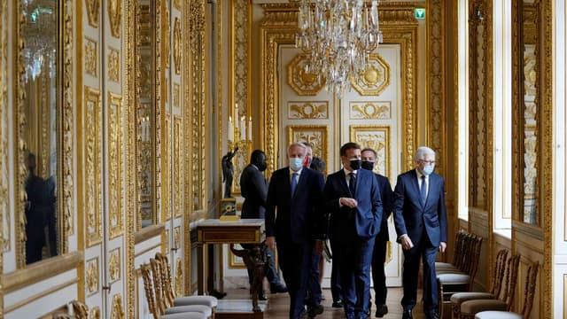 Emmanuel Macron ce jeudi lors de l'inauguration de l'Hôtel de la Marine à Paris
