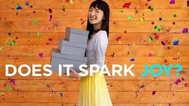 """La star Japonaise du rangement, Marie Kondo, dans l'émission de téléréalité """"L'art du rangement avec Marie Kondo sur Netflix""""."""