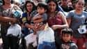 Des migrants à la frontière entre les Etats-Unis et le Mexique, en juin 2018.