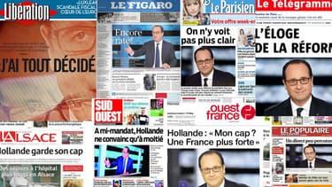 Les Unes de la presse nationale et régionale sont globalement critiques vendredi 7  novembre, au lendemain du face à face de François Hollande, sur TF1, avec les Français