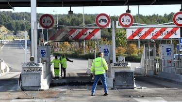 Certaines occupations de péage ont donné lieu à des dégradations importantes en marge du mouvement des gilets jaunes, notamment dans le sud de la France (image d'illustration)