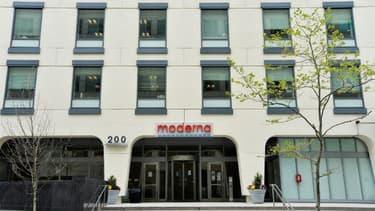 Le siège de la biotech Moderna, à Cambridge, dans le Massachusetts, aux Etats-Unis le 18 mai 2020