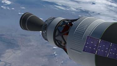 VUe d'artiste du vaisseau Orion, de la Nasa.