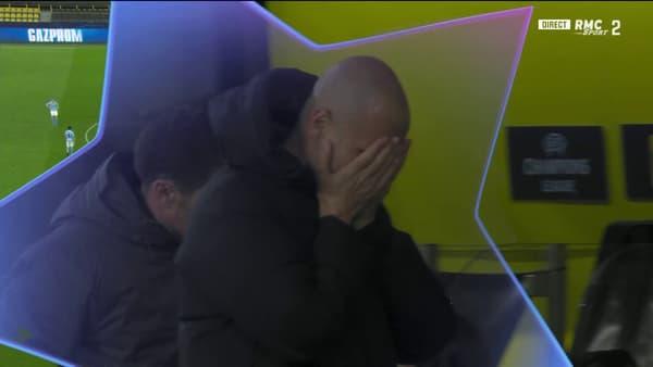 Pep Guardiola soulagé par le but de Foden