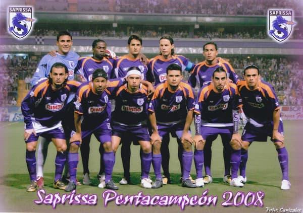 L'équipe du Deportivo Saprissa avec Keylor Navas