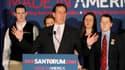 Rick Santorum a remporté mercredi deux victoires aussi serrées que cruciales lors des primaires républicaines dans le Mississippi et en Alabama, selon des décomptes quasi définitifs et les projections des grandes chaînes de télévision américaines. /Photo
