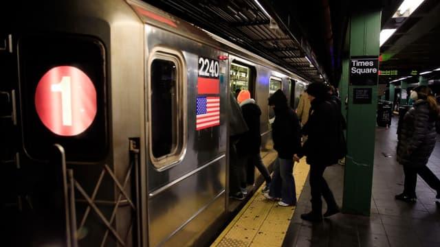 Dans le métro new-yorkais, le 27 janvier 2015.