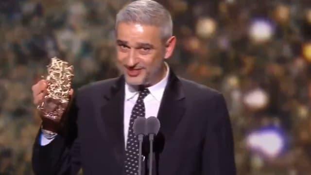 Manuel Chiche, distributeur du film Parasite en France a fait une dédicace à l'OM aux Césars