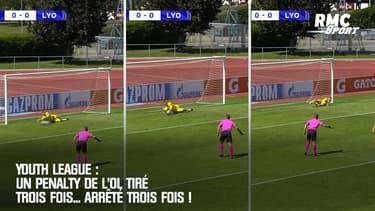 Youth League : Un penalty de l'OL tiré trois fois... arrêté trois fois !