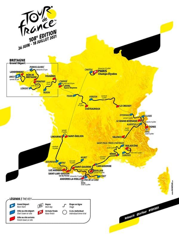 Le parcours du Tour de France 2021