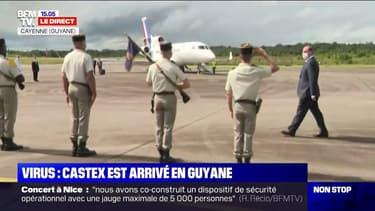 Coronavirus: Jean Castex est arrivé à Cayenne pour une courte visite en Guyane
