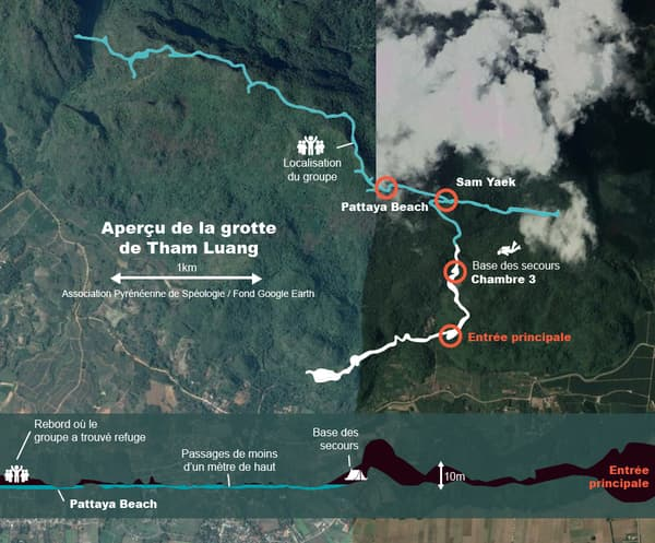 Carte grotte thailande