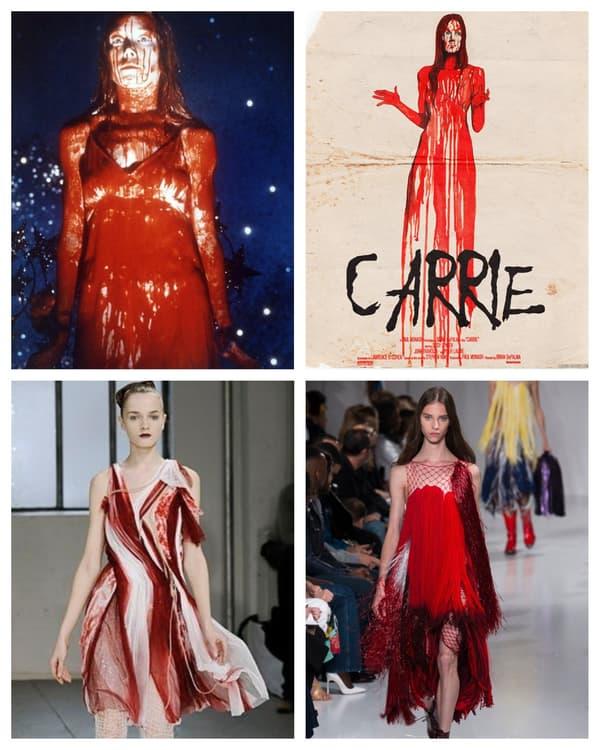 Le film Carrie (extrait et affiche, un défilé Rodarte, un défilé Calvin Klein