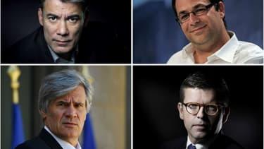 Les quatre candidats briguant la tête du Parti socialiste.