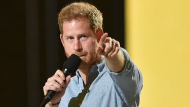 "Le prince Harry durant l'enregistrement du ""Vax Live"""