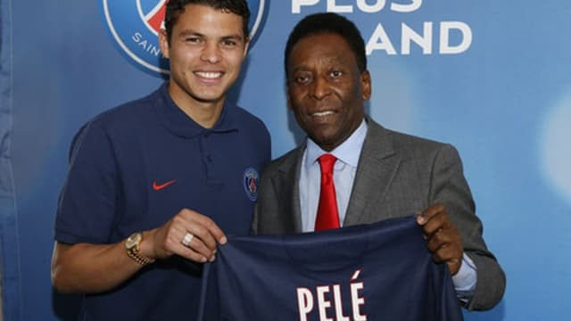 Thiago Silva et Pelé