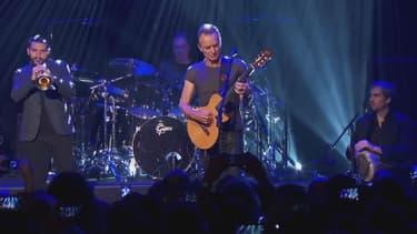 Sting sur la scène du Bataclan, le 12 novembre 2016