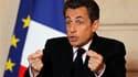 """Lors des voeux aux autorités religieuses à l'Elysée, Nicolas Sarkozy a mis en garde vendredi contre """"un plan particulièrement pervers d'épuration religieuse"""" au Moyen-Orient après les attaques contre les chrétiens survenues dans cette région. /Photo prise"""