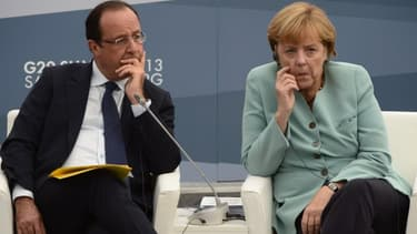 François Hollande et Angela Merkel, lors du dernier sommet du G20, en Russie.