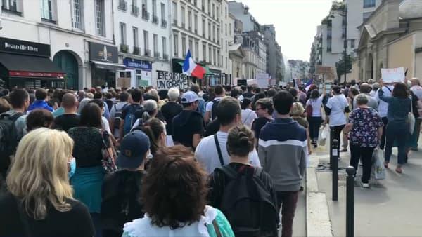 Manifestation contre le vaccin et le pass sanitaire ce samedi 17 juillet à Paris.