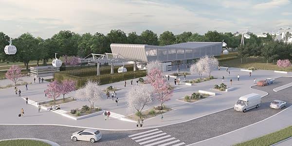 La future ligne de téléphérique, longue de 5 km dans le Val-de-Marne, comprendra 5 stations.
