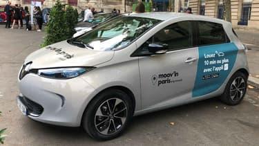 Moov'in Paris, le service de Renault propose des Zoé en autopartage.
