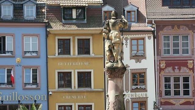 Façades d'immeubles à Mulhouse