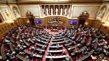 Le Sénat à Paris le 16 juillet 2020 lors d'un discours du Premier ministre Jean Castex