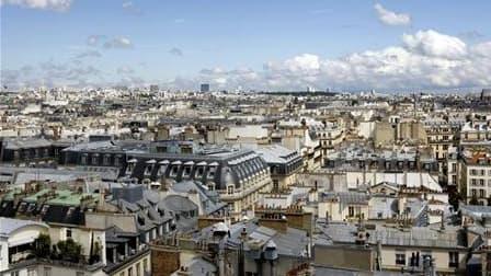 Vue de Paris. La capitale, avec les villes de Neuilly-sur-Seine et Nice sont les mauvais élèves du logement social, selon le quotidien économique Les Echos qui précise que Paris a écopé cette année d'une amende record de 15,1 millions d'euros pour non res