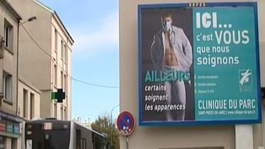 La campagne de publicité dans les rues de Saint-Priest-en-Jarez dans la Loire est jugée sexiste.