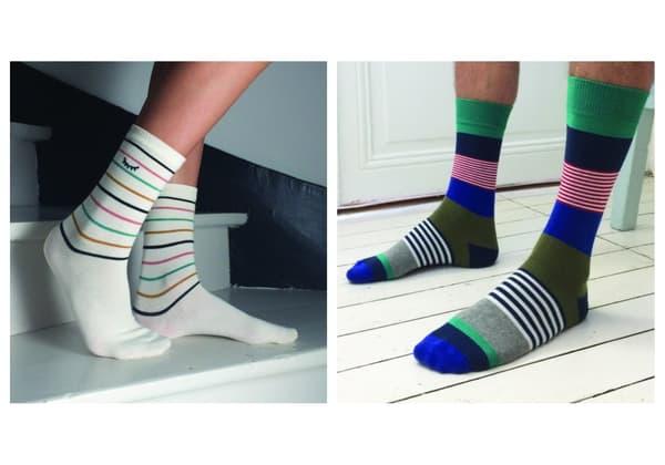"""Des chaussettes """"Bonpied"""""""