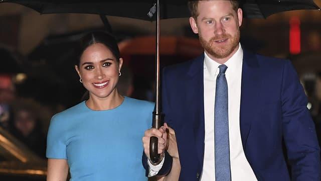 Harry et Meghan en mars 2020 à Londres.