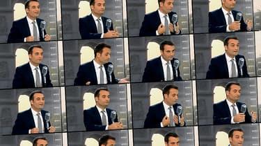 Florian Philippot sur le plateau de BFMTV-RMC le 9 septembre 2014.