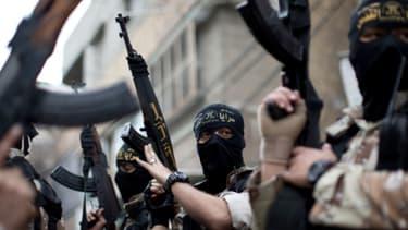 Des militants jihadistes palestiniens lors de funérailles de l'un des leurs à Gaza, le 11 mars dernier