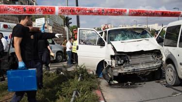 Un Palestinien de 38 ans a foncé sur un groupe de passants avec son véhicule avant d'être abattu.