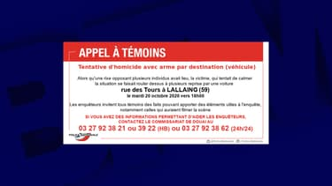 La police de Douai lance un appel à témoins