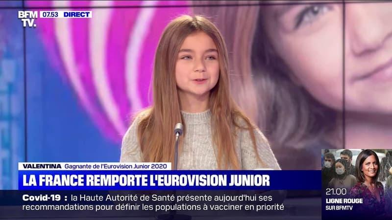 Valentina, gagnante de l'Eurovision Junior 2020, témoigne de son émotion sur BFMTV